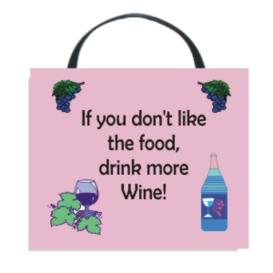 Drink More Wine Wall Hanging