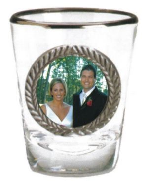 Shotglass with Pewter Photo Insert